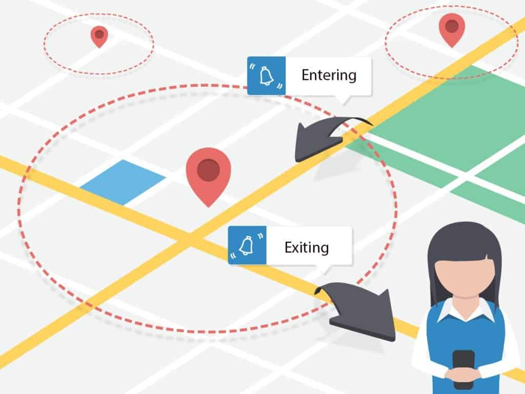 Geo-fencing helps in reaching a target audience